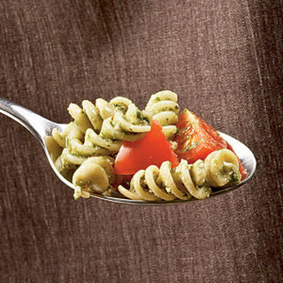Tomato and Walnut Pesto Rotini.