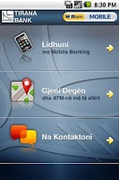 Screenshot of winbank Mobile Albania