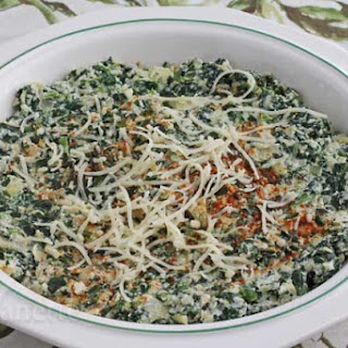 Skinny Spinach and Artichoke Dip with Fontina Cheese.