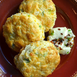 Cheddar Scallion Scones with Jalapeno Agave Butter