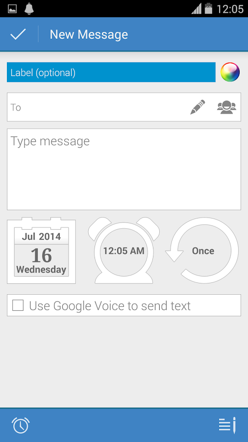 Message Scheduler - screenshot