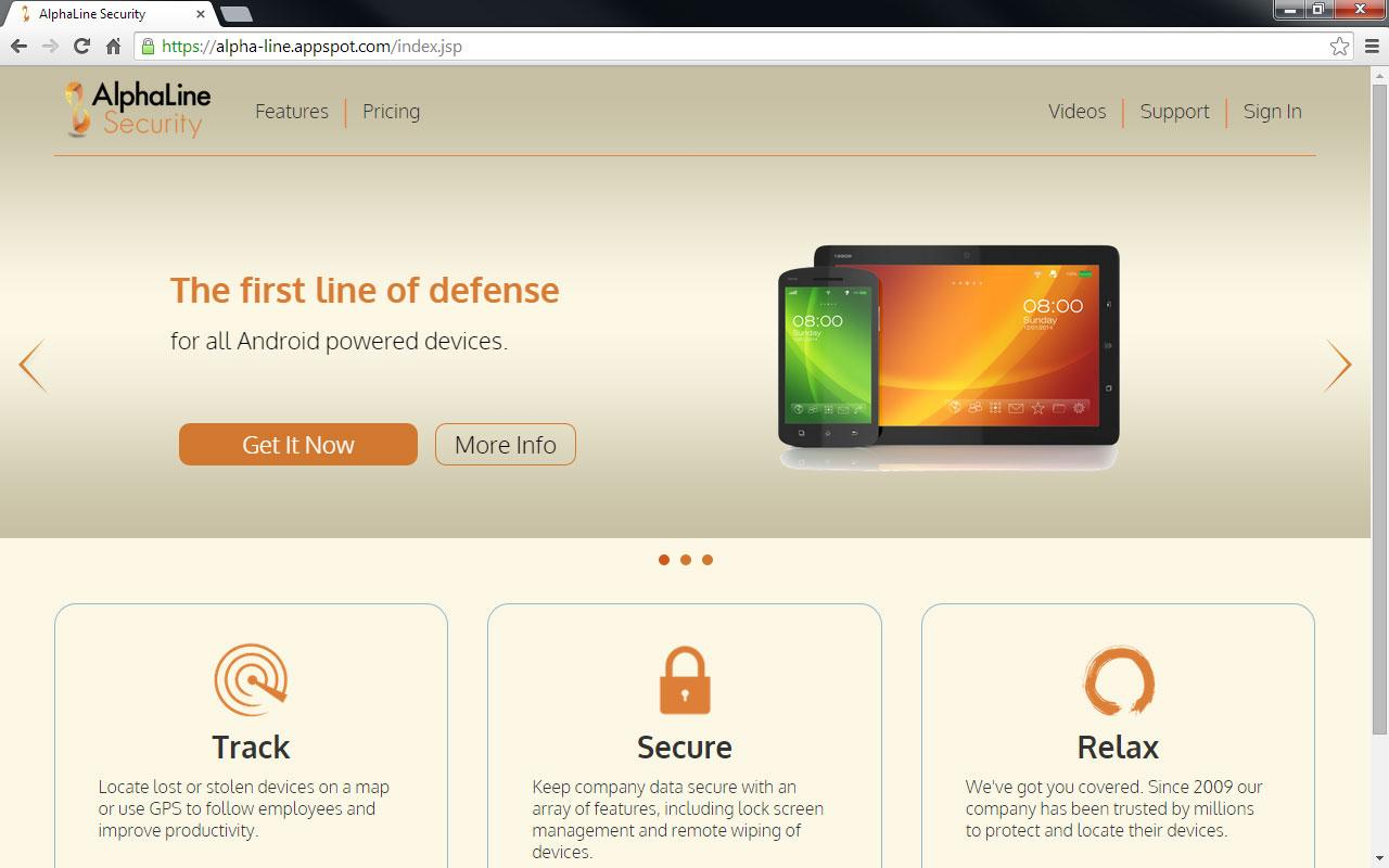 AlphaLine Security Client- screenshot