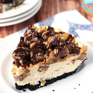 Ultimate No-Bake Reese's Peanut Butter Cup Cheesecake.