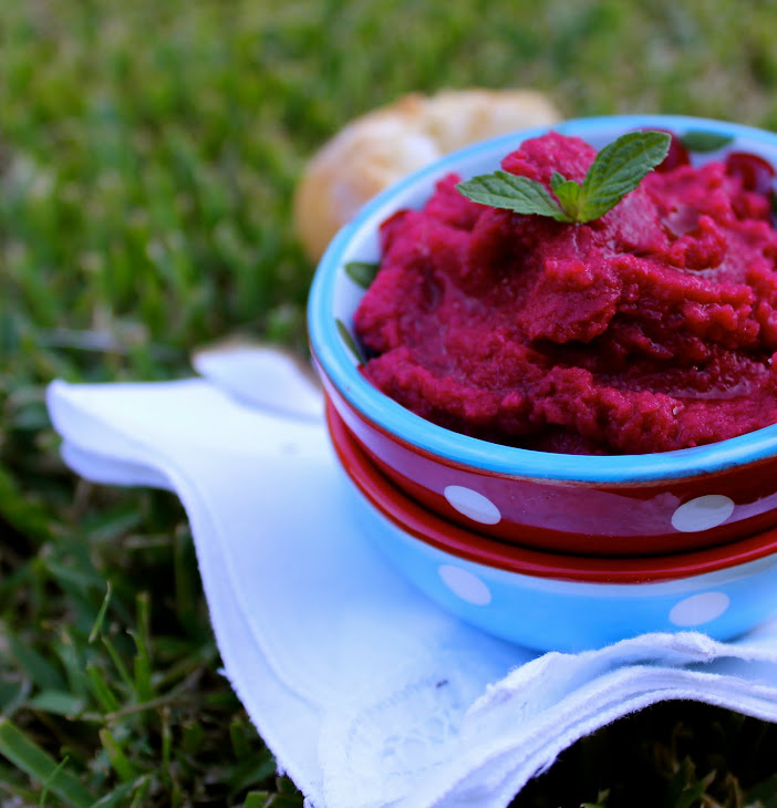 Beetroot and Chickpea Hummus
