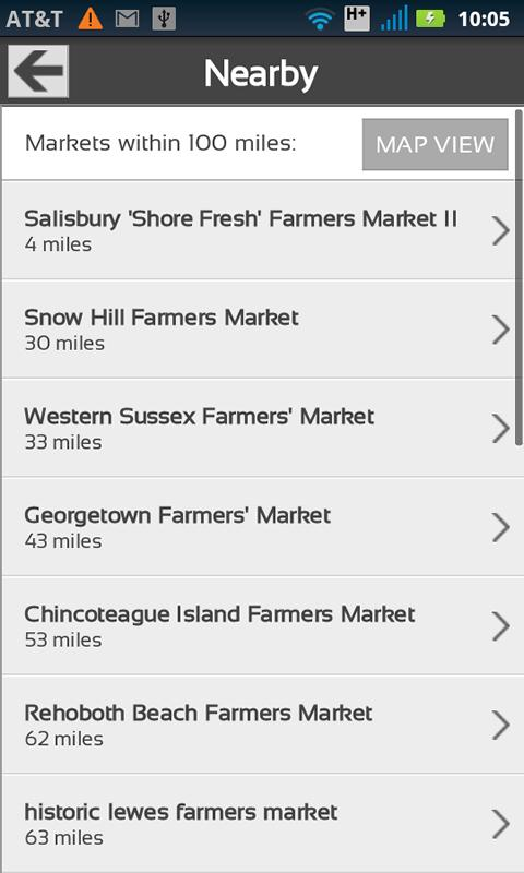 Fresh Food Finder - screenshot