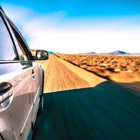 Side Mirror by Shane McKenzie - Transportation Automobiles ( car, adventure, speed, horizon, road, desert.,  )