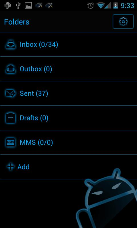GOSMS SteelBlue Theme - Free - screenshot