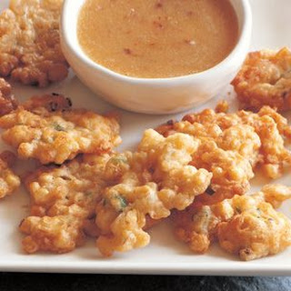 Sweet Corn Fritters with Smoky Honey Dipping Sauce