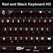 Red and Black Keyboard HD