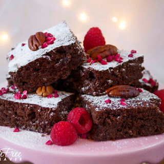 Festive Gluten-Free Raspberry and Pecan Brownies; So Delicious!!