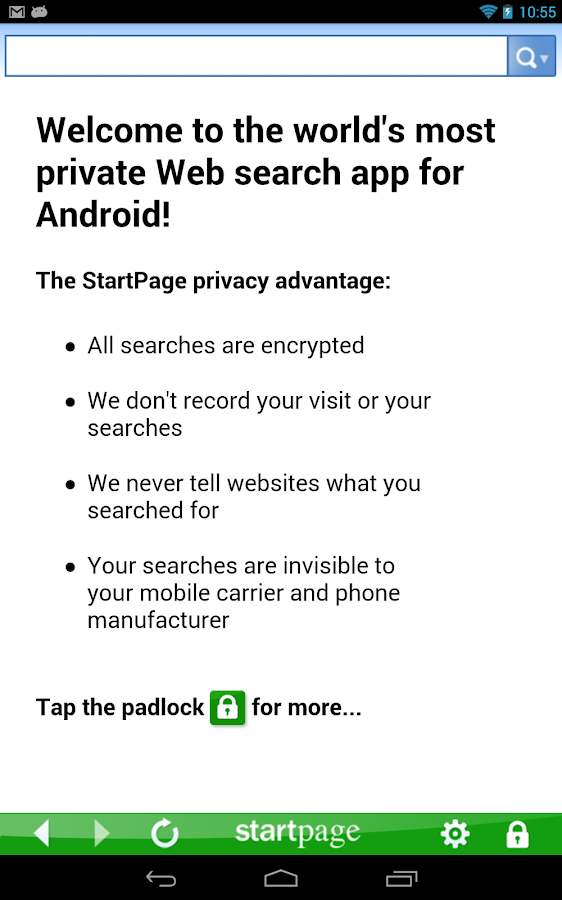 StartPage Private Search - screenshot