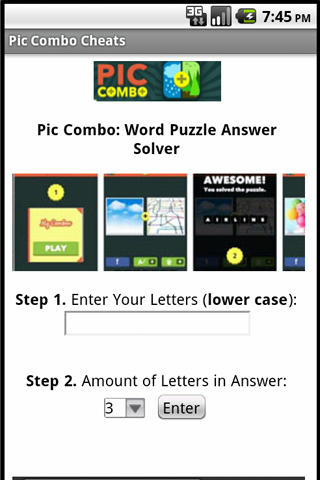 Pic Combo Cheats Answers Free - screenshot