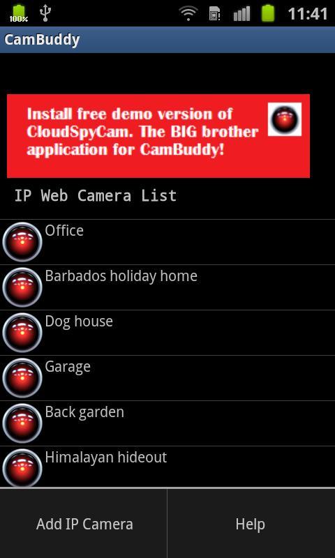 Cam Buddy– Capture d'écran