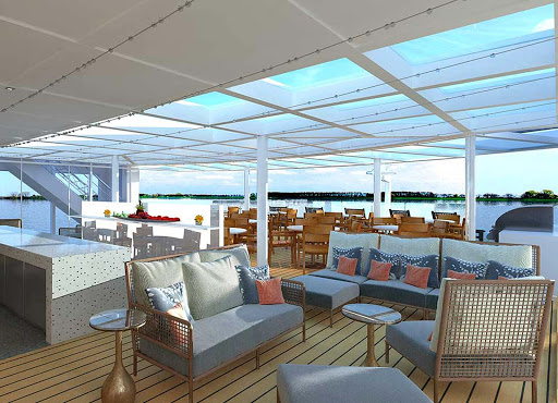 Viking-Longship-Aquavit-Terrace-3 - Head to the contemporary Aquavit Terrace aboard your Viking Longship to relax, meet new friends and take in Europe's scenic waterways.