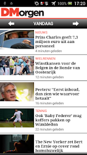 DeMorgen.be Mobile - screenshot thumbnail