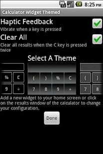 Calculator Widget Themed - screenshot thumbnail