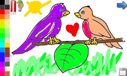 無料教育Appの着色本:鳥!|記事Game