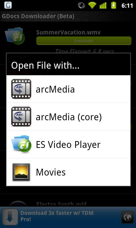 GDriveDownloader(Google Drive) - screenshot
