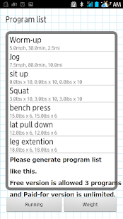 Gym DB for Workout management - náhled