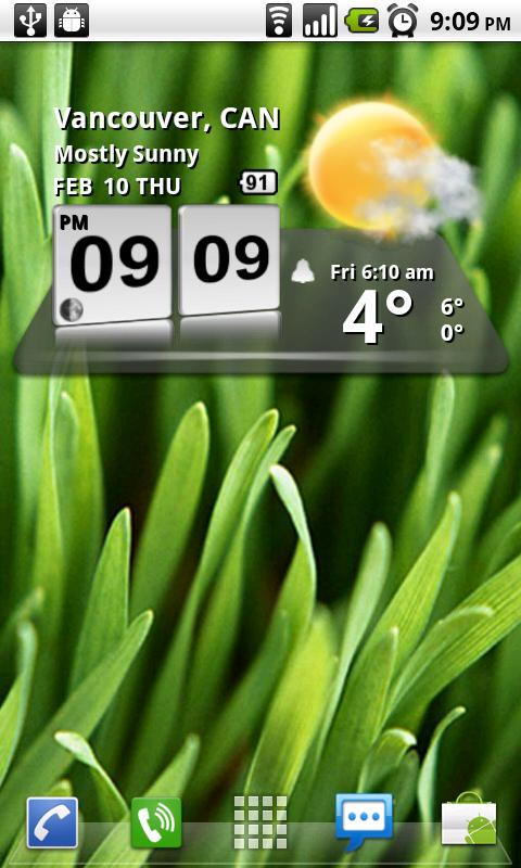 3D Digital Weather Clock - screenshot