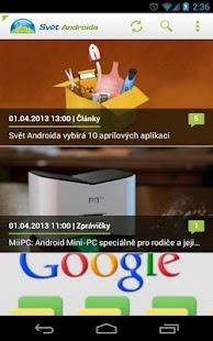 SvetAndroida.cz - screenshot thumbnail