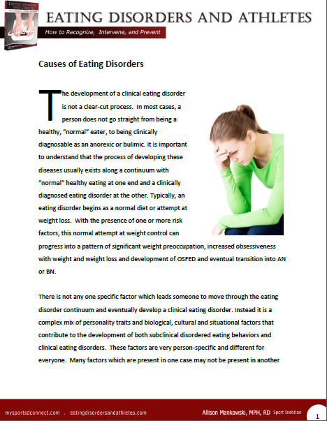 Sport and Eating Disorders - Understanding and Managing the Risks