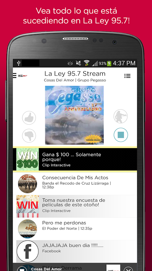 La Ley 95.7 FM- screenshot