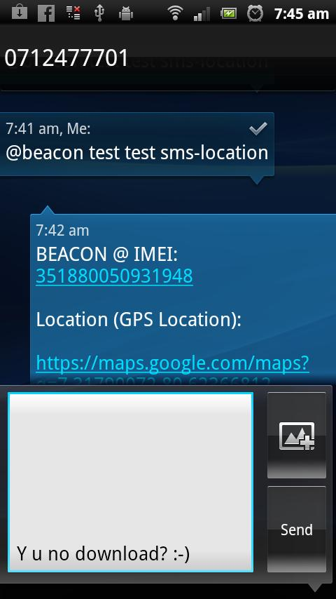 Beacon - Find My Droid- screenshot