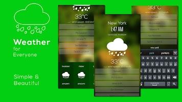 Screenshot of Weather & Clock
