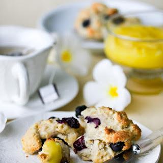 Blueberry Scones with Lemon Glaze.