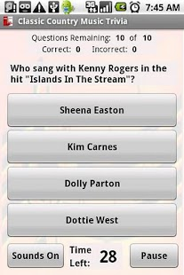 Classic Country Music Trivia - screenshot thumbnail
