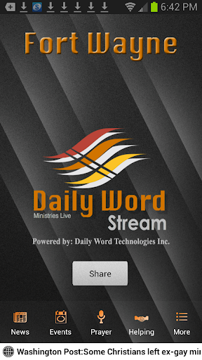 Daily Word Stream Fort Wayne