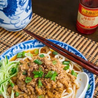 Dan Dan Mian (Noodles in Spicy Chinese Peanut Pork Sauce).