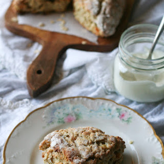 Scottish Apricot Scones / Apricot Oat Scone.