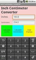 Screenshot of Inch Centimeter Converter