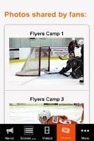 Screenshot of Philadelphia Flyers Fan App