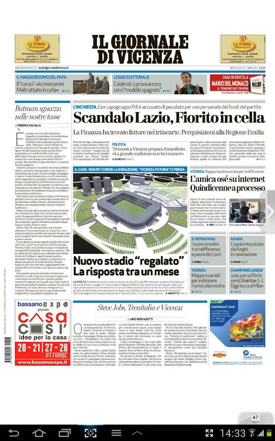 Il Giornale di Vicenza- screenshot