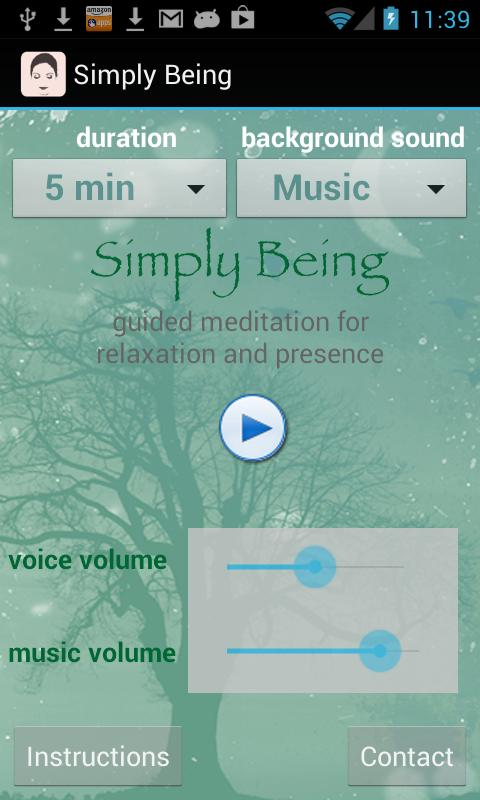 Simply Being Guided Meditation - screenshot