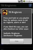 Screenshot of TR Ringtones