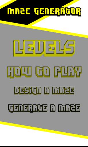 Random Generated Maze Game