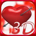 Valentine Hearts Love Free LWP icon