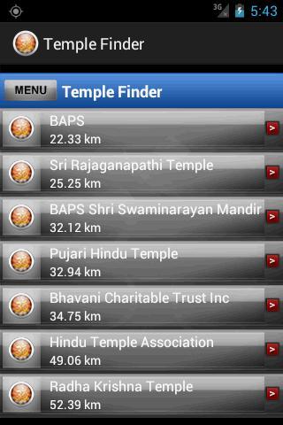 Temple Finder