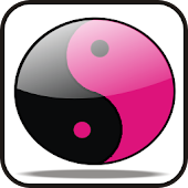 YingYang doo-dad (hot pink)