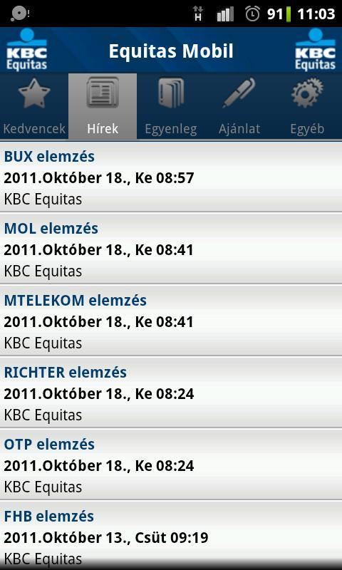 Equitas Mobil - screenshot