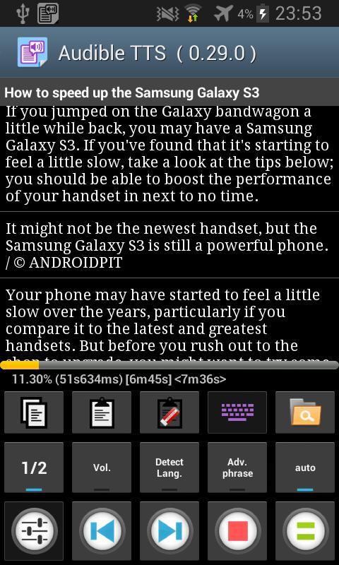 Talk Text sf (Voice Reading) - screenshot
