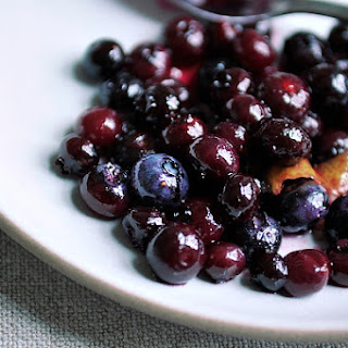 Blueberry Grappa Sauce.