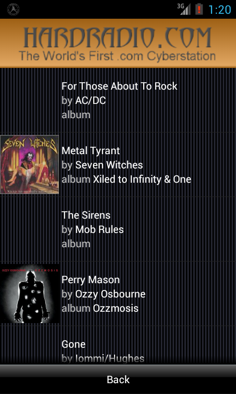 Hard Radio Rock Heavy Metal - screenshot