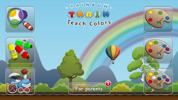 Rainbow Train: teach colors lv
