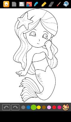 Mermaids Coloring Games screenshot
