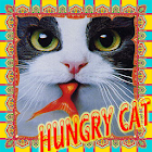 Cute hungry cat icon